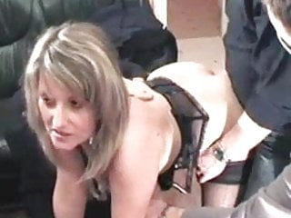 Slut gang bang - French slut christina in gang bang