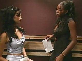 Nude lezbos haveing sex - Interracial lezbo in elevator