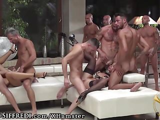 Naked pole vaulting Live show: euro anal orgy from rocco siffredis vault