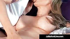 Busty Cougar Julia Ann Muff Dives With Lesbian Kayla Paige!