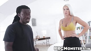 MILF Blanche Bradburry deepthroats BBC before anal drilling