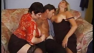 Friends & Family – 015 Two Russian BBWs Fuck a Skinny Young Guy