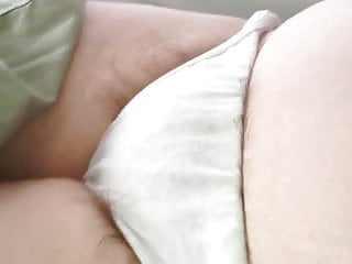 No escape femdom long punish tubes - Long pubic hair escaping from the sides of her white pantys