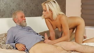 DADDY4K. Tender lady with tanned boy gets in hands of older