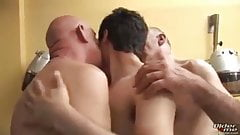 Two Grandpa's sexy suck one cute son big cock