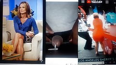 Amy robach cum tribute to her ass and legs. Drains my cock