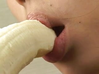 Japanese pussy banana - Beautiful japanese girl sexily eating a banana