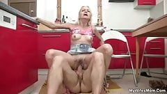 Wife sees mother riding her man's cock