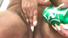 Soda can masturbation