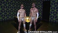 2 Big Dick Boys Cumshot & 1 Hairy Uncut VR Nerd Masturbating