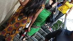 Desi candid bouncing boobs on stairs 2