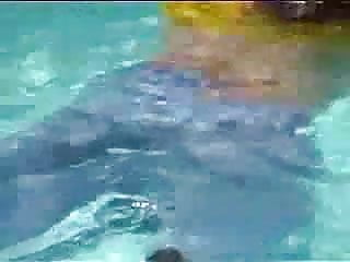 Marjorie lord nude Marjorie is getting wet in her pool - outdoor