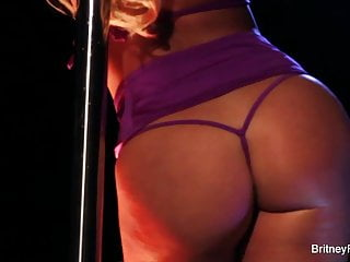 Girl pole stripper - Britneys a horny stripper who satisfies herself on the pole