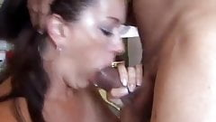 Mature milked the cum out