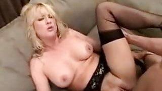 Blonde Milf Bethany Black Stockings SM65