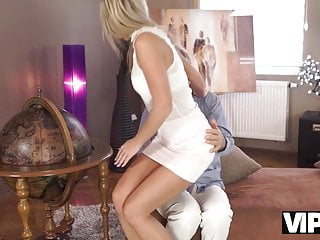 Milf dud Vip4k. pretty blonde with perfect body makes love to old dud