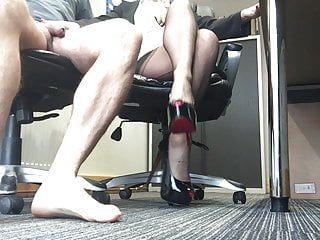 Mature hand job mature Stockings secretary hand job