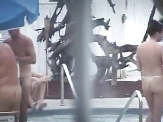 Lads naked in the pool - Naked in the pool