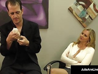 Moby dicks white rock bc Busty blonde milf julia ann milks cum from rock hard dick