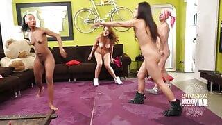Summary: Playing sports naked