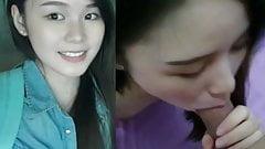 Супер симпатичная малайзийская подруга из Саравака, Yip Wen, Jia слила минет