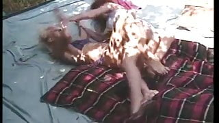 Catfight at pool party