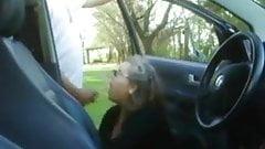 mature mom sucks young boys cock in public car