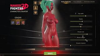 Naked Fighter 3D, SFM Hentai game wrestling mixed sex fight