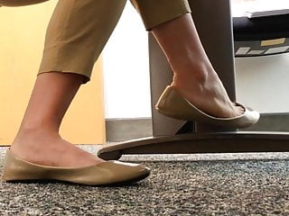 Sexy candid camera movies - Coworker sexy candid shoe dangling