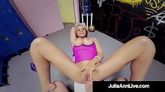 Sex Bomb Milf Julia Ann Pussy Fucks Young Stud In Gym!