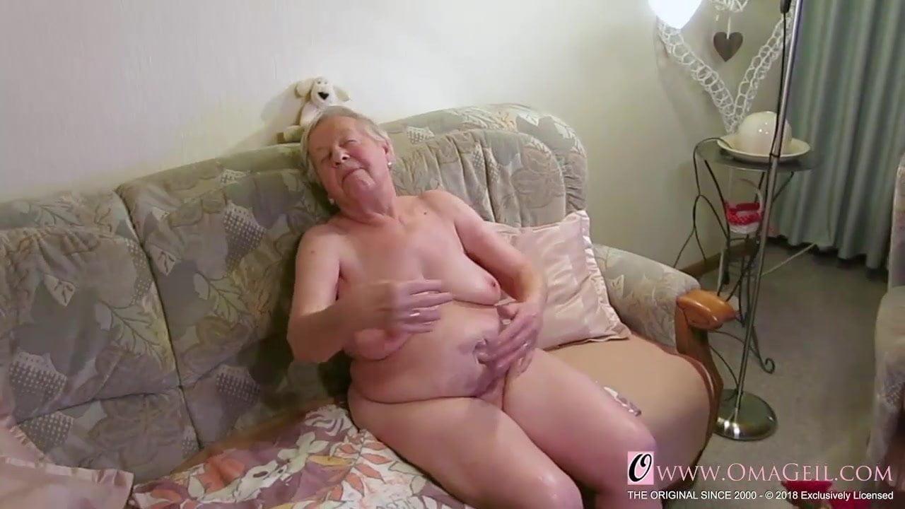 Old grandma naked