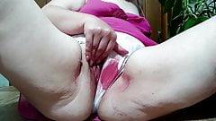 Cumming From My Big Dilo (masturbation during red days)