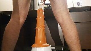 12 inch huge dildo balls deep anal gape uncut cock