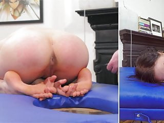 Bdsm enema pants Tied down for her enema