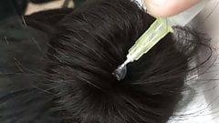 Dark gel in black hair