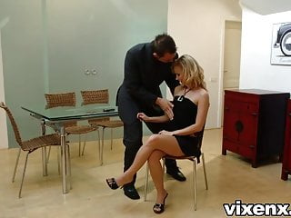 Foxy brown fucking Vixenx - foxy blonde hires male stripper and fucks him