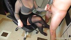 Teen Step Sister Handjob on her Stockings - Cum on Big Tits