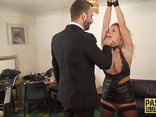 Girls tied up scissoring double dildo - Pascalssubsluts - tied up milf sasha steele dominated