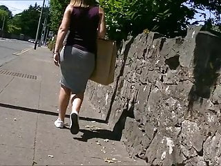 Lesbian tight skirt - Bubble butt in tight skirt edited.