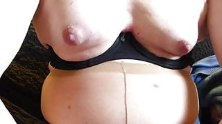 CD my nipples in close up
