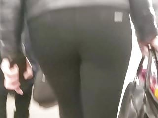 Ass older round woman - Hot woman with round ass in black pants