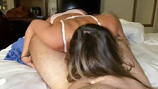 Sexy waitress, Homemade sex video in hotel room