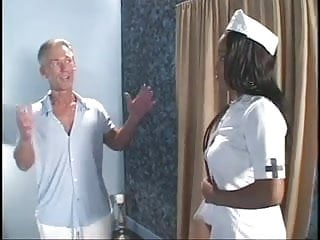 White men on black ass Sexy ebony nurse fucked by old white men