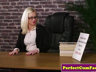 Cum drenched faces 8 British secretary cum drenched after facial