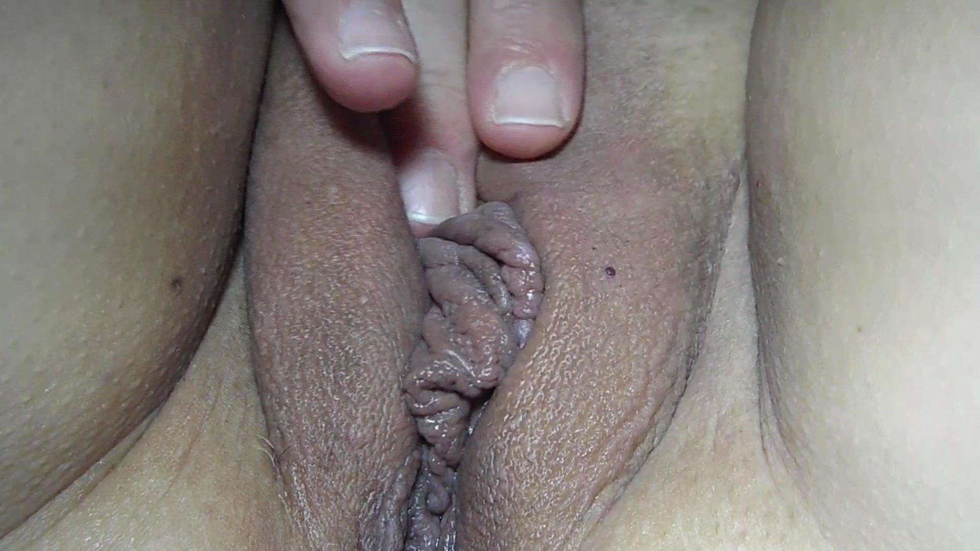 Creamy orgasmic goo oozing out of pussy