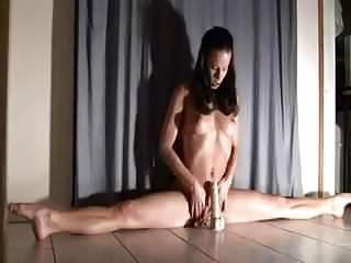 Flexible amateur fucking Flexible amateur girl riding on dildo to orgasm.