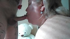 deep throat and mouthful of cum