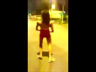 Prepuberty girl showing upskirt - Girl showing tits and pussy in public street