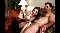 Girls Brought a Guy to their Hotel Room for a CFNM Foreplay