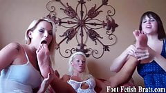 She propped her feet up to tease her